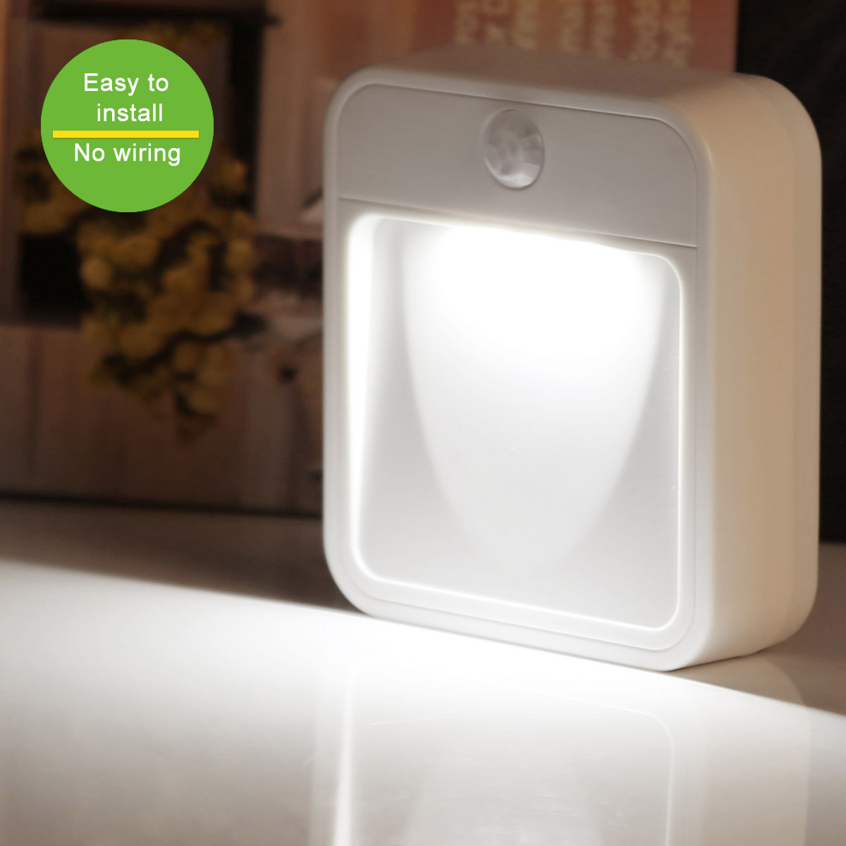 Steckdosenlampe mit bewegungsmelder und Lichtsensor, 18 Lumen Nachlicht Kinderzimmer, Kaltweiß