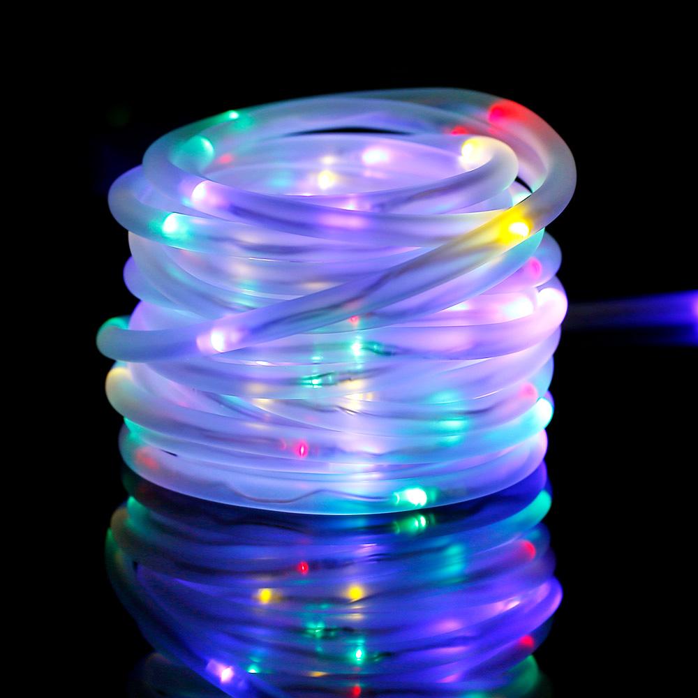 RGB Solarlichterkette, 10M, Weihnachtsbeleuchtung, Wasserdicht, Portable, mit Lichtsensor