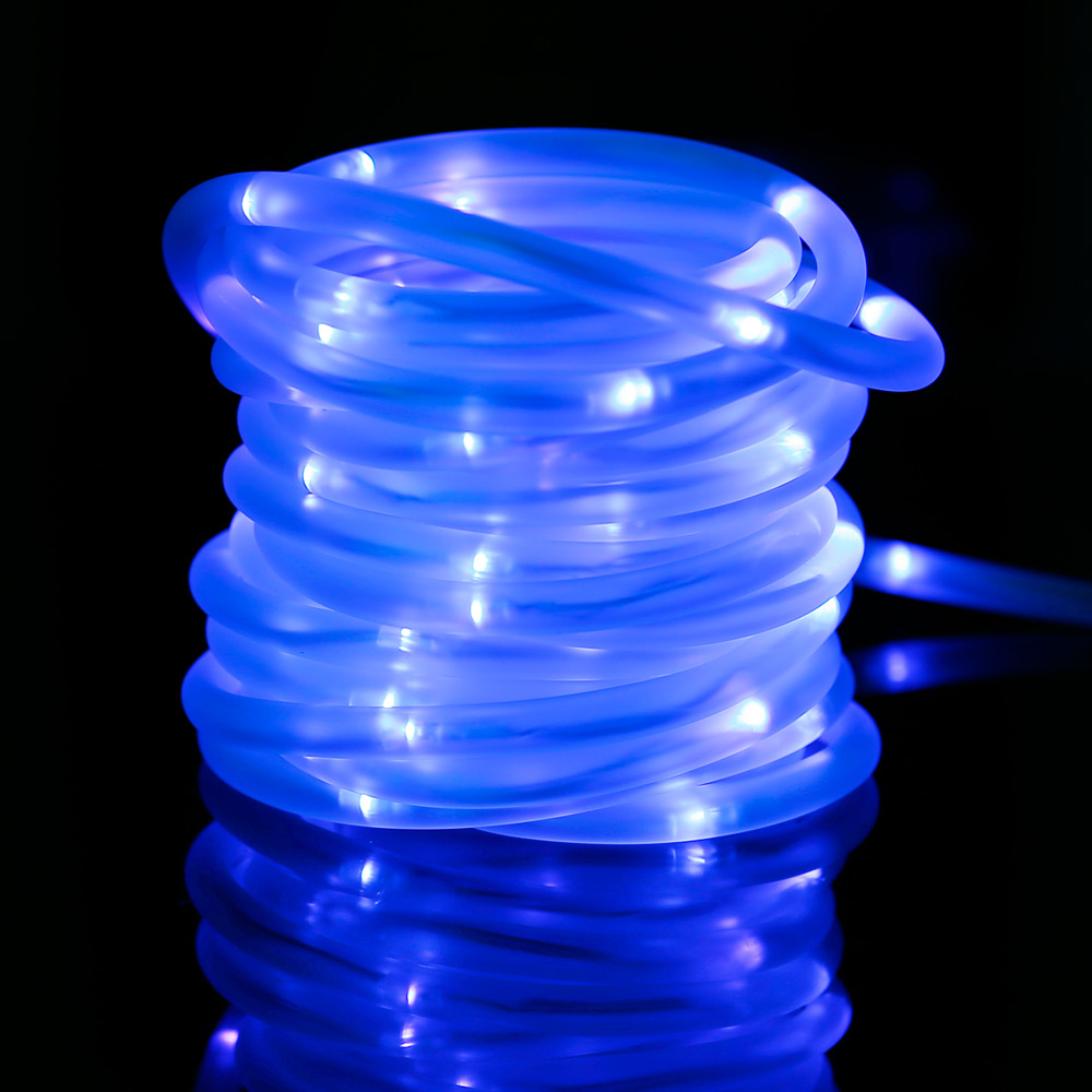 Solarlichterkette, 10M Blau, Weihnachtsbeleuchtung, Wasserdicht, 1,2V  Portable mit Lichtsensor