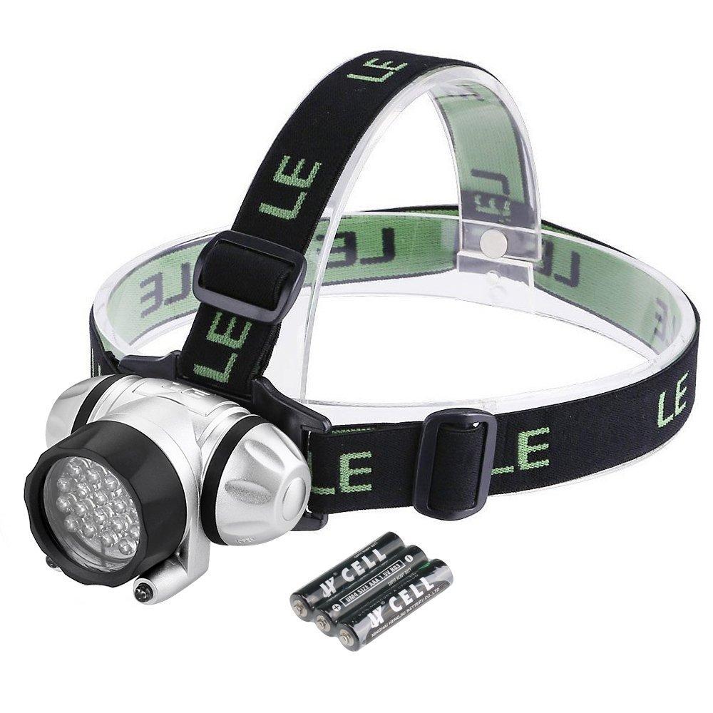 LED Stirnlampe, 78lm Kopflampe, 15M Leuchtweite, 10 Std. Brenndauer,  4 Modi, Batterien inkl.