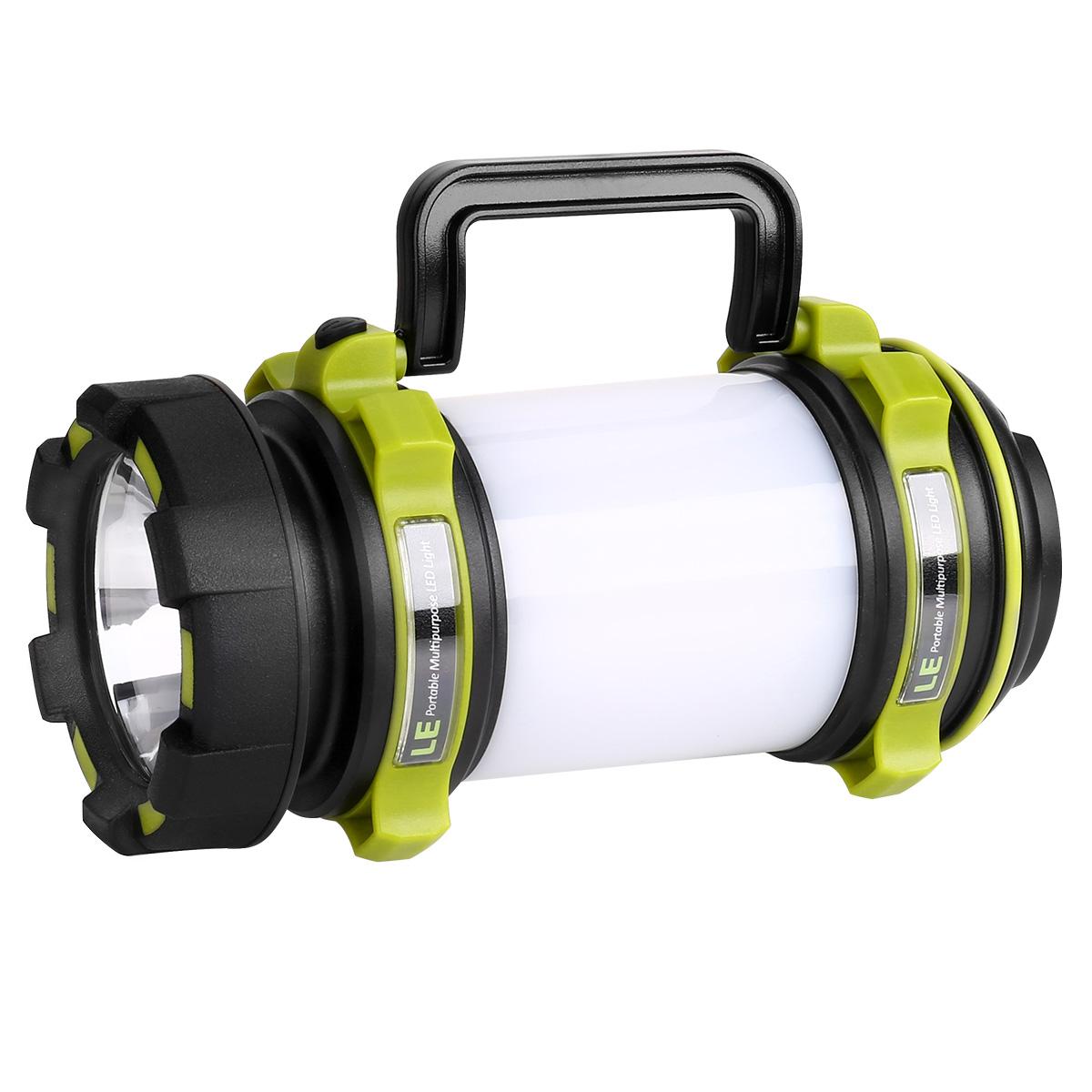 500lm LED Suchscheinwerfer, Handscheinwerfer, Wasserfest, USB aufladbar Campinglaterne, 2600mAh Powerbank Warnlicht, Akku Mehrzwecklampe