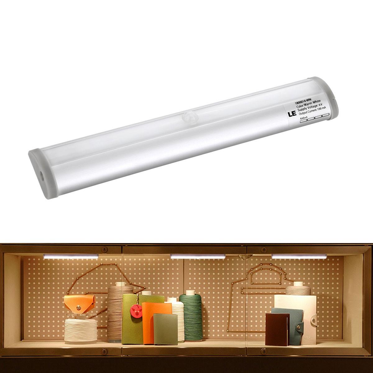 LED Unterbauleuchte, PIR Bewegungsmelder und Lichtsensor, 40lm, Batteriebetrieben, Warmweiß
