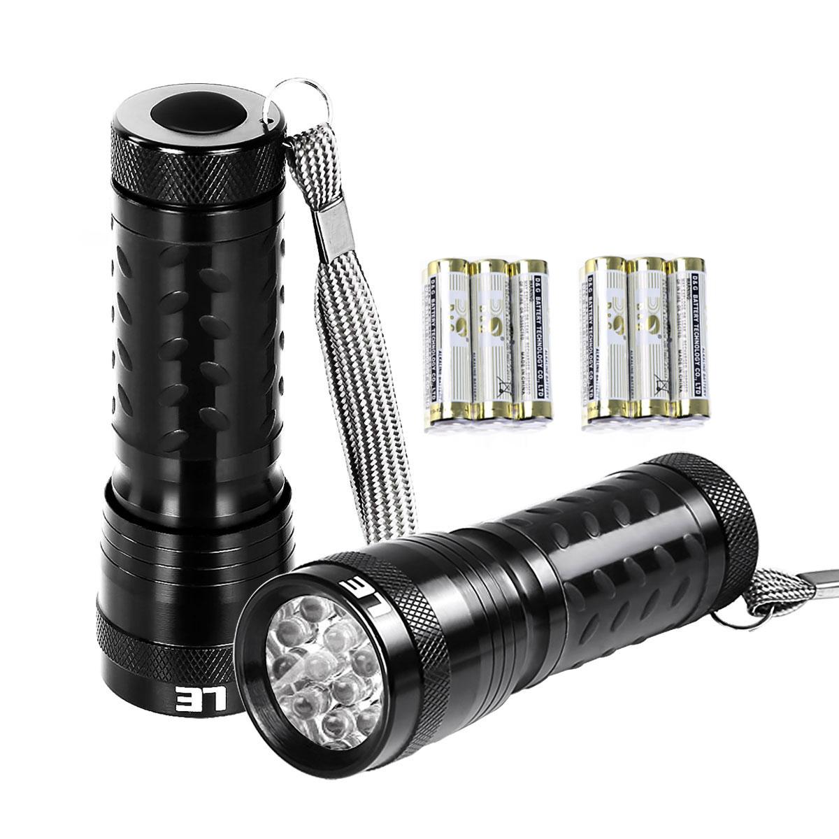 Superhelle LED Taschenlampe, 60lm Handlampe mit 14 LEDs, 2 Stück